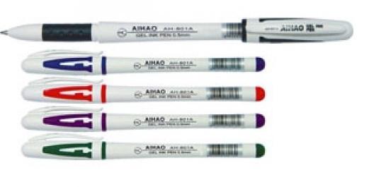 Ручка гелевая AIHAO 801черная