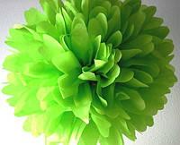 Купить бумажный помпон для оформления, 35 см. салатовый
