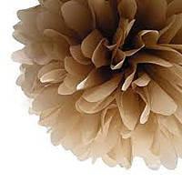 Купить бумажный помпон для оформления, 35 см. коричневый