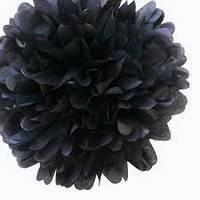 Купить бумажный помпон для оформления, 35 см. черный