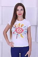 Женская футболка котон с рисунком