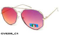 Солнцезащитные очки оригинальной формы женские GV8206 C1