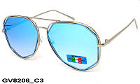 Солнцезащитные очки оригинальной формы женские GV8206 C3