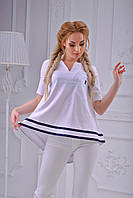 Белая блуза в морском стиле
