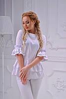 Белая блуза с открытой спиной