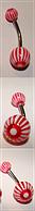 Сережка в пупок банан акриловый UV (светится на дискотеке), фото 1
