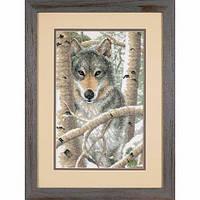 """03228 • Набор для вышивания крестом """"Зимний волк//Wintry Wolf"""" DIMENSIONS"""