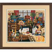 """03884 • Набор для вышивания крестом """"Мэгги-рукодельница//Maggie the Messmaker"""" DIMENSIONS Gold Collection"""