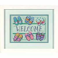 """06978 • Набор для вышивания крестом """"Добро пожаловать!//Welcome Mat"""" DIMENSIONS"""