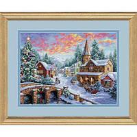 """08783 • Набор для вышивания крестом """"Праздничная деревня//Holiday Village"""" DIMENSIONS Gold Collection, шт"""