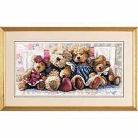 """35039 • Набор для вышивания крестом """"Мишки//A Row of Love"""" DIMENSIONS Gold Collection"""