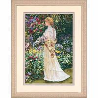 """35119 • Набор для вышивания крестом """"В ее саду//In Her Garden"""" DIMENSIONS Gold Collection"""