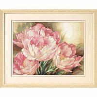 """35175 • Набор для вышивания крестом """"Трио тюльпанов//Tulip Trio"""" DIMENSIONS Gold Collection"""