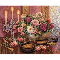 """35185 • Набор для вышивания крестом  """"Романтический букет//Romantic Floral"""" DIMENSIONS Gold Collection"""