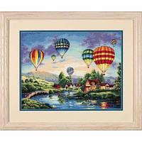 """35213 • Набор для вышивания крестом """"Воздушные шары//Balloon Glow"""" DIMENSIONS Gold Collection"""
