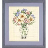 """35228 • Набор для вышивания крестом """"Цветы в высокой вазе//Flowers in Tall Vase"""" DIMENSIONS"""