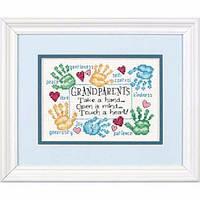 "65011 • Набор для вышивания крестом ""Дедушке с бабушкой//Grandparets Touch a Heart"" DIMENSIONS"