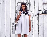 """Белое платье oversize с бантиком """"Люверс"""""""