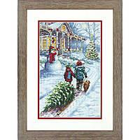 """70-08960 • Набор для вышивания крестом """"Рождественская традиция//Christmas Tradition"""" DIMENSIONS"""