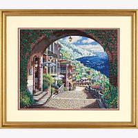 """70-35265 • Набор для вышивания крестом """"Прибрежный вид//Coastal View"""" DIMENSIONS Gold Collection"""