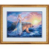 """70-35291 • Набор для вышивания крестом """"Аврора//Aurora"""" DIMENSIONS Gold Collection"""