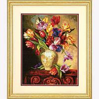 """70-35305 • Набор для вышивания крестом """"Попугаистые тюльпаны//Parrot Tulips"""" DIMENSIONS"""