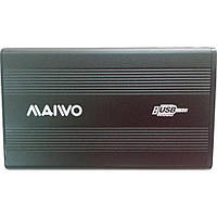 """Карман HDD 2.5"""" Maiwo K2501A-U2S black sata через USB2.0"""