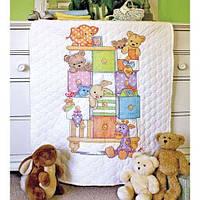 """73537 • Набор для вышивания крестом """"Детские тумбочки//Baby Drawers Quilt"""" DIMENSIONS"""