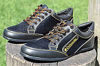 Туфли, кроссовки, мокасины летние сетка, вставки кожзам черные Львов 2017, фото 1