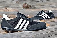 Туфли, кроссовки, мокасины мужские летние искусственный нубук черные Львов 2017, фото 1