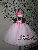 Платье ту-ту из фатина  с цветами, фото 2