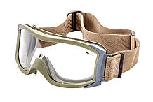 Очки тактические Bolle X1000 цвет Nato Green с прозрачными линзами
