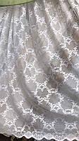 Тюль сетка белого цвета опт