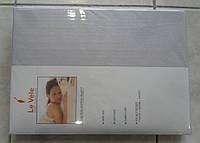 Простынь Le Vele L.grey трикотажная на резинке 180*200