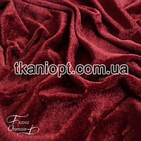 Ткань Стрейч велюр для ритуальных услуг (бордовый)