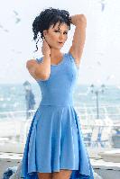 """Трикотажное платье """"Николь"""", голубой"""
