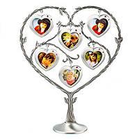 """Рамка для фотографий """"Сердце"""" на 6 фото, подарок для молодоженов"""
