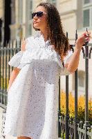 """Белое летнее платье """"Камила"""""""