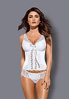 Белый корсет Obsessive Etheria corset