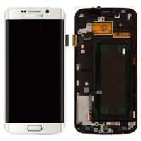 Дисплей для мобильного телефона Samsung G925F Galaxy S6 EDGE, белый, с