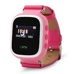 Детские часы с GPS трекером Smart Baby Watch Q60 Розовые