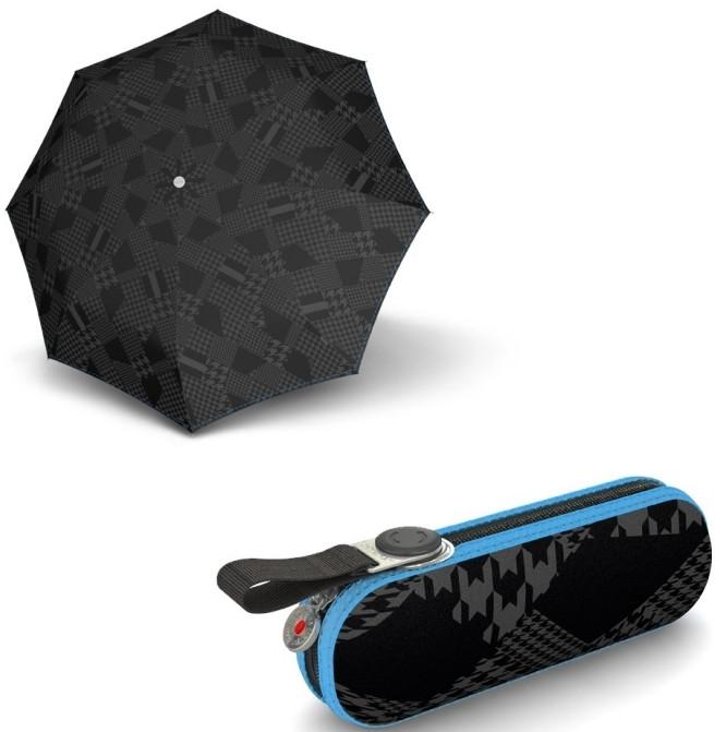 Стильный женский механический зонт Knirps X1 Berlin Ocean Kn898118126, черный