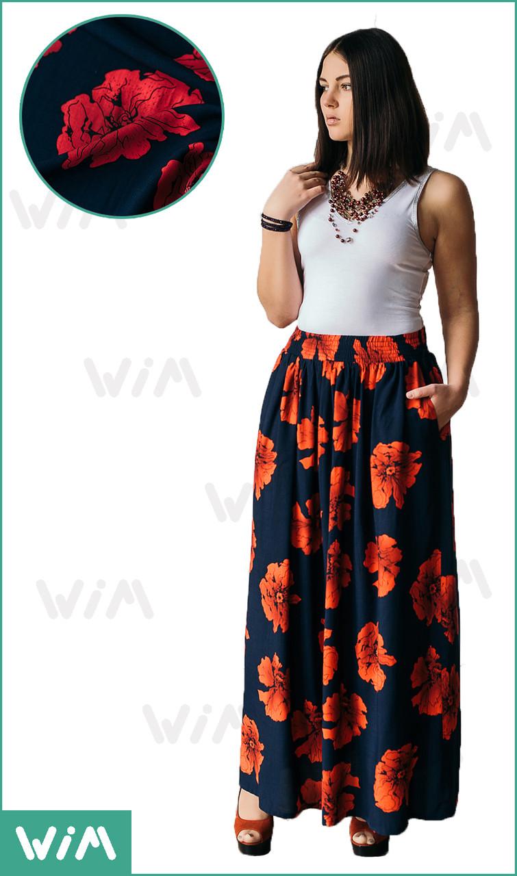 81df855a776 Летняя юбка в пол с маками 64 - Фабрика женской одежды
