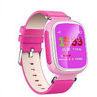 Детские Розовые  часы с GPS трекером Smart Watch Q80 Розовые