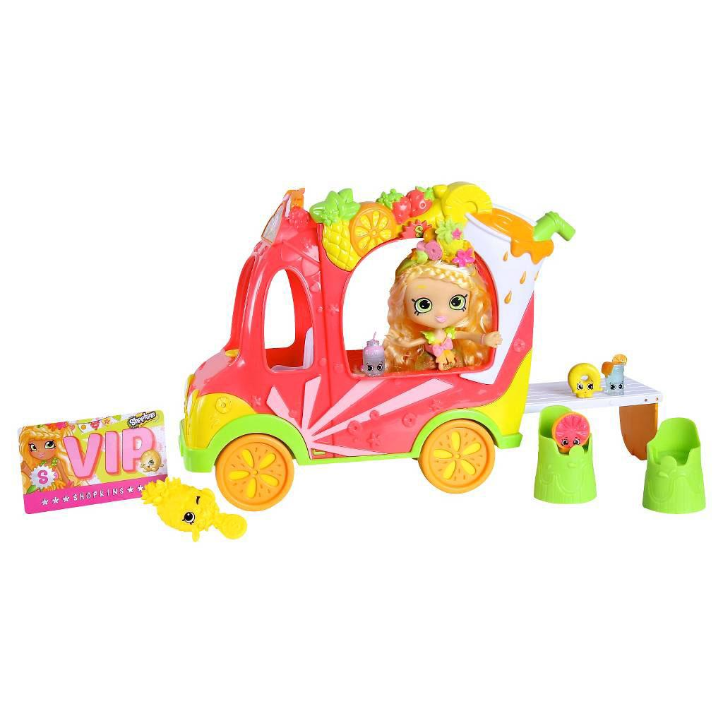 Shopkins «Smoothie Truck combo Shoppies Pineapple Lily (Грузовичок Смузи c куклой Шоппис Пайнэппл Лили)