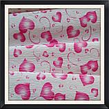 Гофрированная бумага 50*250 см Сердца ( малиновые), фото 2