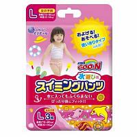 Трусики-подгузники для плавания Goo.N для девочек 9-14 кг, ростом 70-90 см (размер L, 3 шт) (853035)