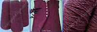 Итальянская пряжа с ангоркой -мягусенькая красивого цвета пыльный бордовый с каплей фуксии