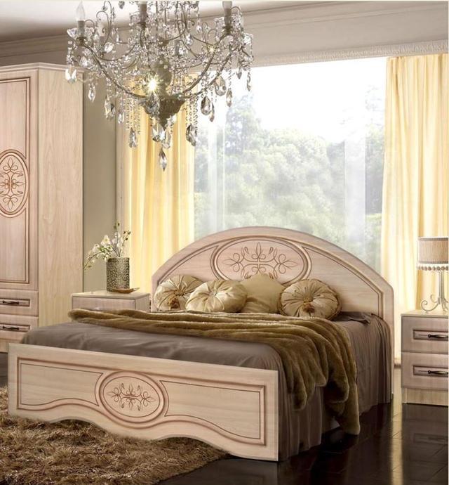 Кровать двуспальная Василиса 1600х2000 с низким изножьем