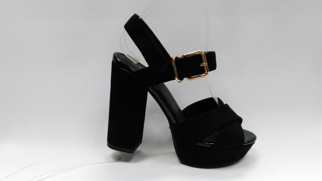 314717bdd Черные замшевые босоножки на каблуке и платформе. - Women Shoe Shop в Ровно